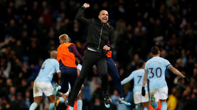 Guardiola excuseert zich voor vreugde-uitbarsting na late zege City