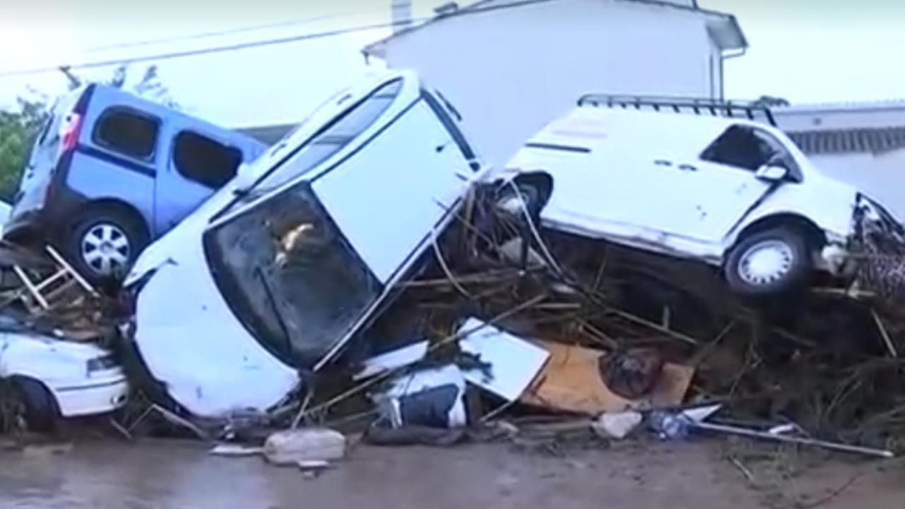 Zware overstroming veroorzaakt puinhoop op Mallorca