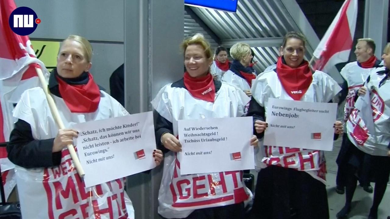 Vliegend personeel Lufthansa legt werk neer