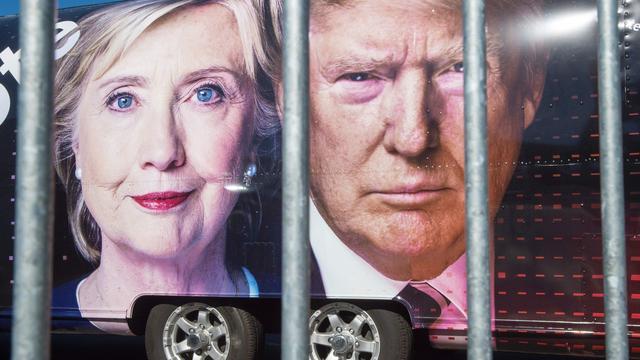 Clinton en Trump gebruiken sociale media om debat te beïnvloeden