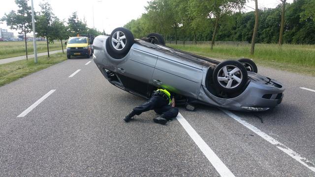 Man loopt hoofdwond op bij eenzijdig ongeval Klundert