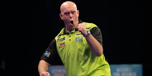 Van Gerwen klopt De Zwaan in derde ronde Players Championship Finals