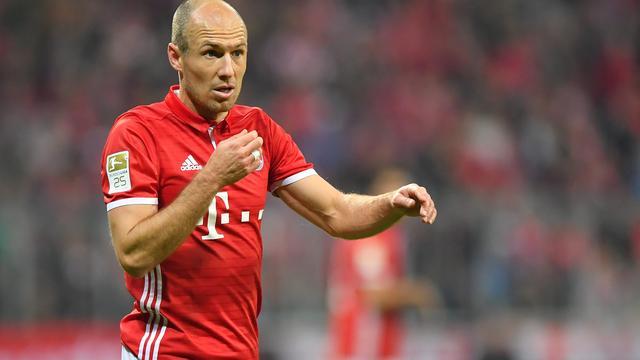 Robben ontbreekt bij Bayern in topper tegen Borussia Dortmund
