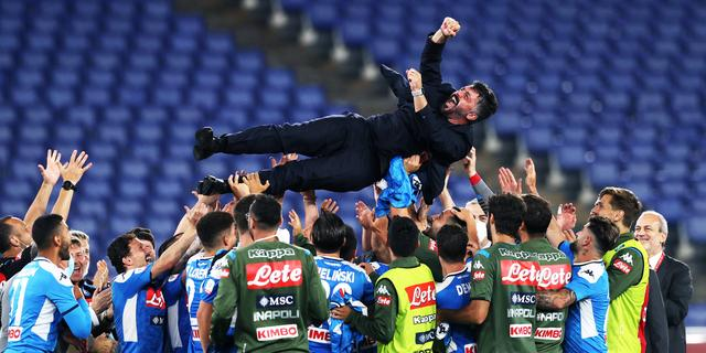Gattuso emotioneel na bekerwinst Napoli vanwege recent overleden zus