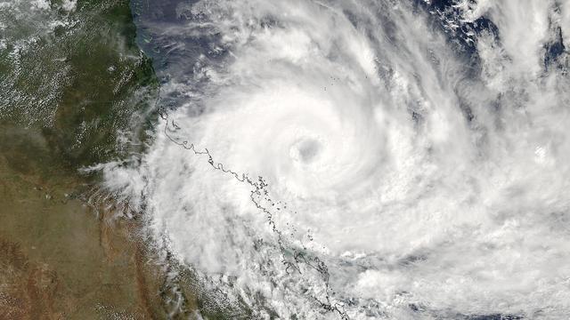 Schade door cycloon Debbie aan noordoostkust van Australië