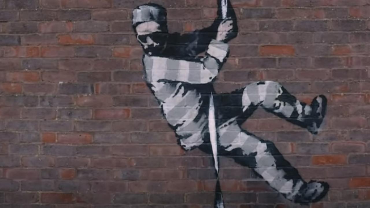 Banksy bevestigt kunstwerk gemaakt te hebben van ontsnappende gevangene - NU.nl