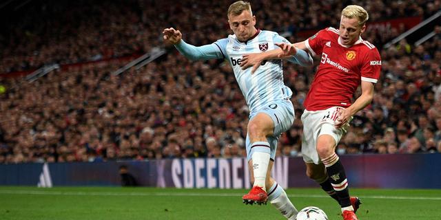 United met Van de Beek in basis uitgeschakeld door West Ham in League Cup