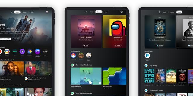 Android-tablets krijgen scherm dat mediadiensten bundelt en uitlicht