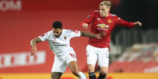 Van de Beek boekt bekerzege met United bij eerste basisplaats van 2021