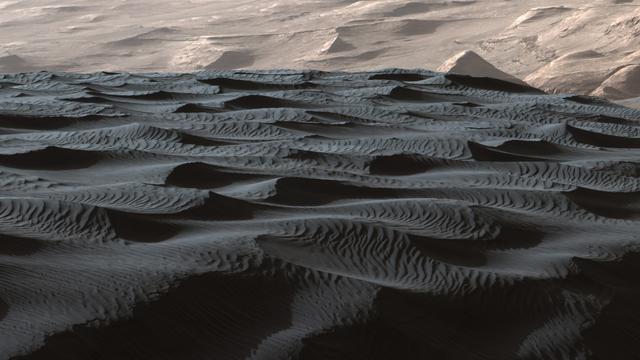 Wetenschappers ontdekken mini-duinen op Mars