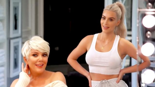 Kris Jenner kopieert Kims platinablonde coupe