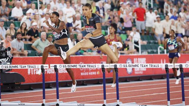 Sydney McLaughlin is the world record holder in the 400 meter hurdles since last month.