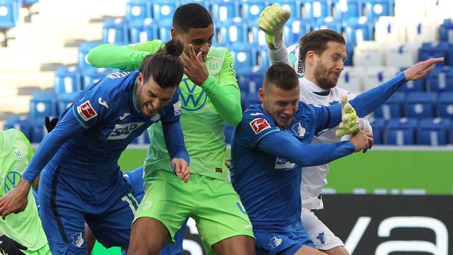 Wolfsburg verloor met 2-1 van Hoffenheim.