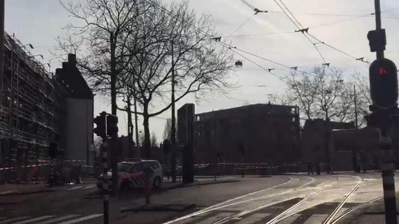 Harde wind in Amsterdam