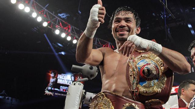 Pacquiao beëindigt boksloopbaan na winst tegen Bradley
