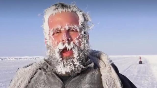Atleten trotseren extreme kou bij marathon van Noordpool