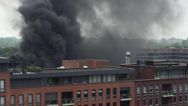 Winkelcentrum Heerhugowaard ontruimd wegens grote brand