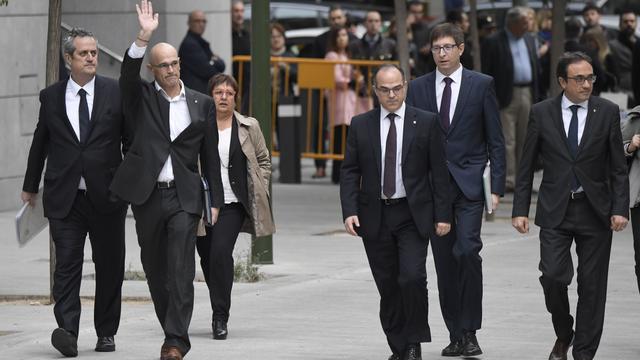 Catalaanse bestuurders zonder Puigdemont voor Spaanse gerechtshof