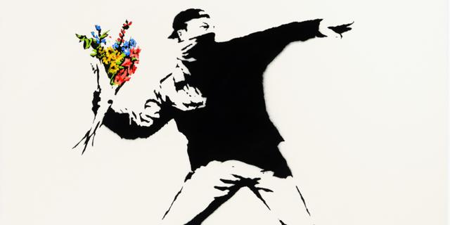 Kunstwerk van Banksy kan op veiling ook met bitcoin gekocht worden