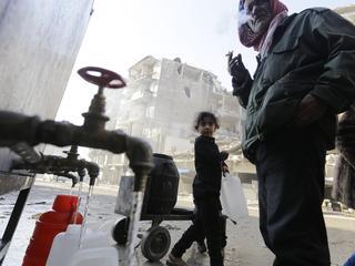 De toevoer van schoon water naar Aleppo vanuit al-Khafsa was twee maanden afgesloten