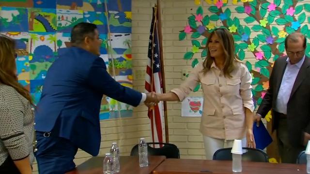 Melania Trump bezoekt migrantenkinderen