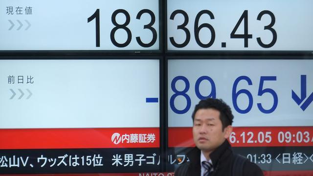 Nikkei sluit eerste handelsdag van de week in de min