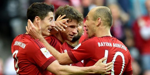 Robben opnieuw trefzeker voor oppermachtig Bayern