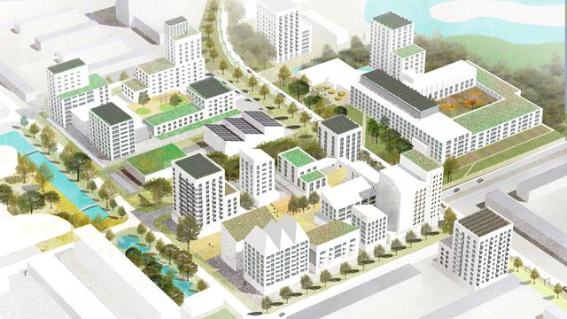 Bouwen in naoorlogse wijken zou ook goed zijn om daar de voorzieningen op peil te houden, meent onderzoeksbureau KAW.