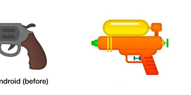 Ook Google vervangt pistoolemoji door waterpistool