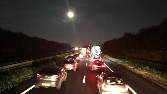 Lange file op A58 richting Bergen op Zoom door ongeval bij Yerseke