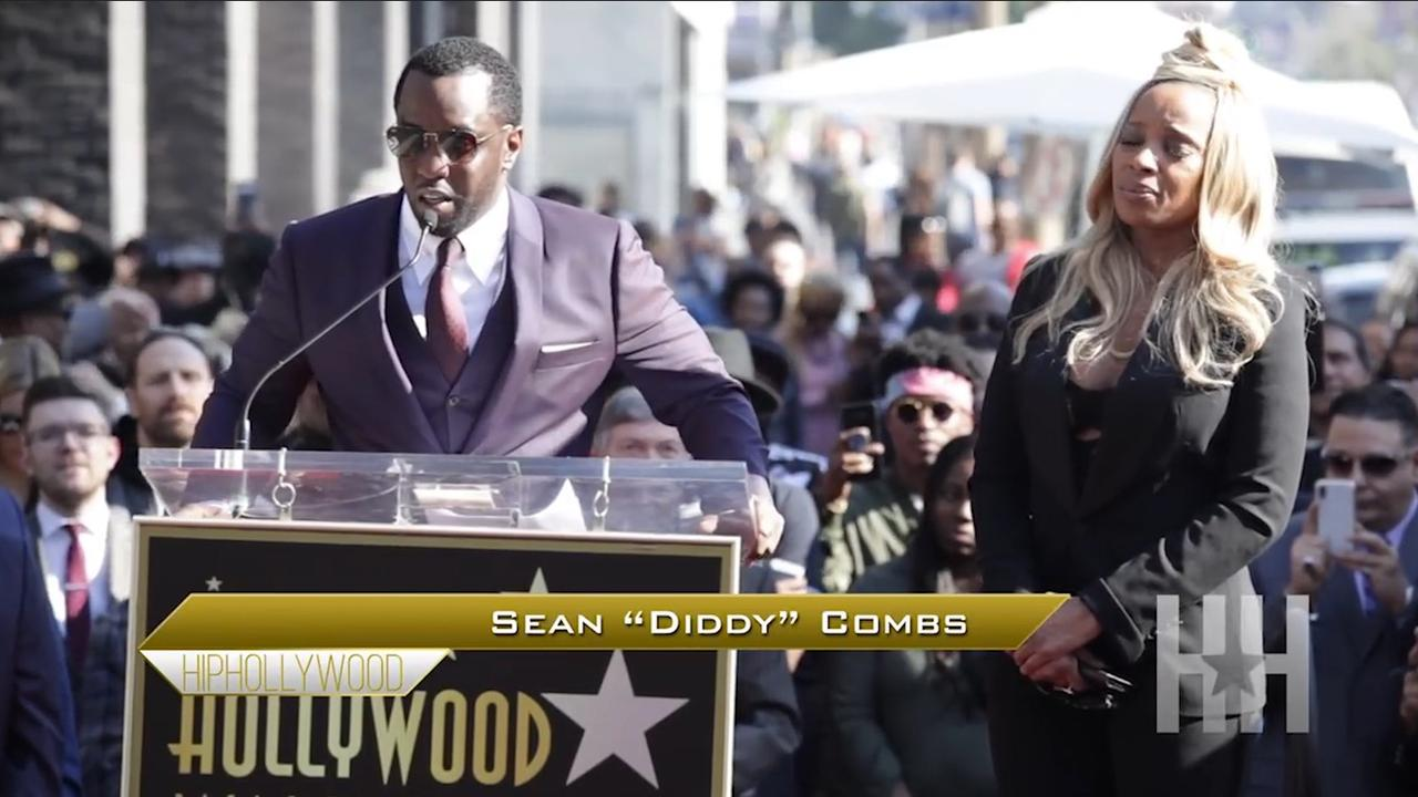 P. Diddy onthult ster Mary J. Blige op Hollywood Walk of Fame
