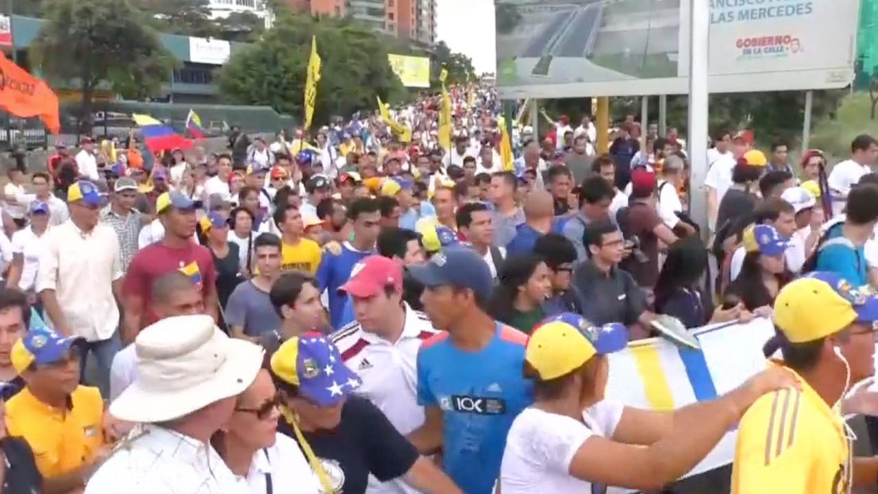 Massale protesten tegen Venezolaanse president Maduro