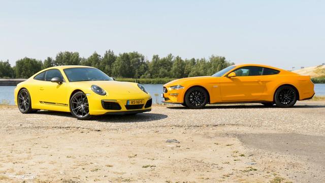Eerste dubbeltest: Ford Mustang vs. de Porsche 911