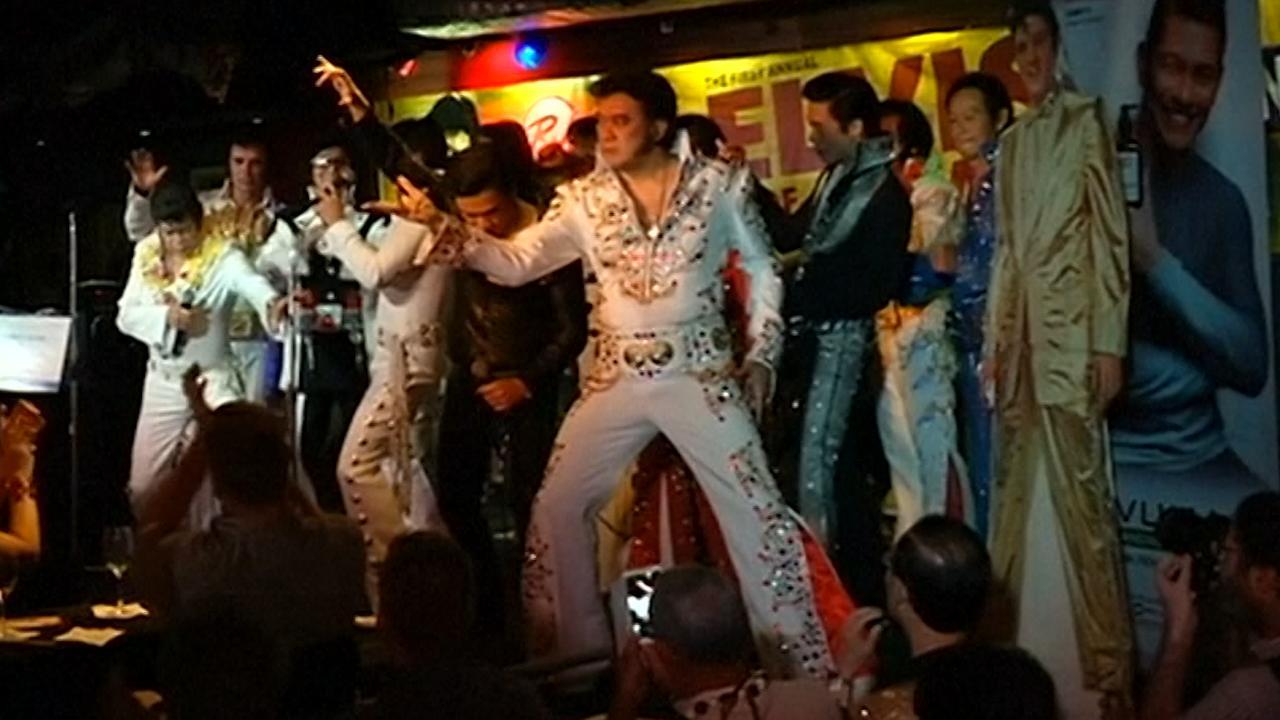 Elvis-imitators strijden om titel 'Elvis of Asia' in Filipijnen