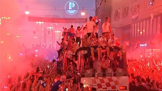 Honderdduizenden Kroaten vieren WK-prestatie in Zagreb