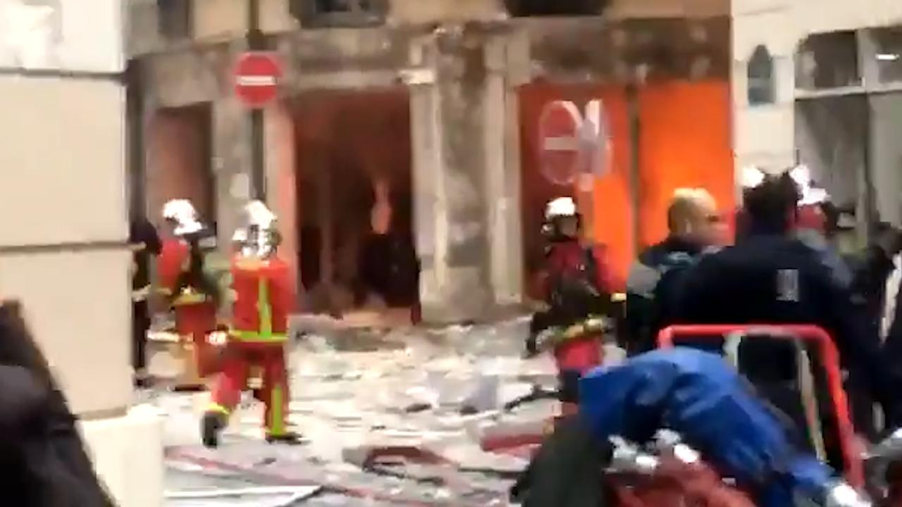 Ravage na explosie in centrum Parijs
