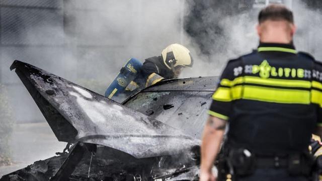 Politie houdt twee verdachten aan na brandstichting op Marshalllaan