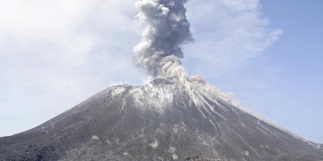Onderzoekers: Vulkaan Indonesië veel kleiner na uitbarsting