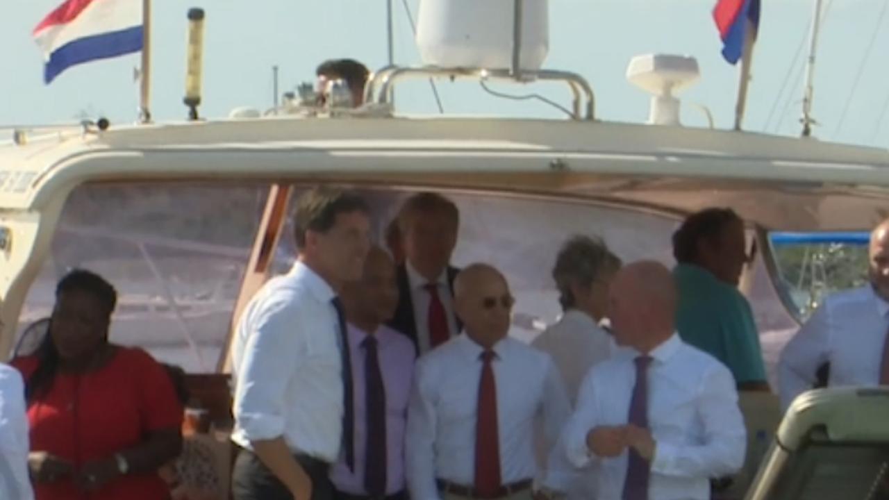 Rutte bezoekt door orkaan Irma getroffen gebieden op Sint-Maarten