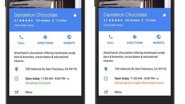 Google voegt speciale openingstijden toe aan Maps en zoekmachine