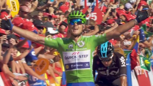 Samenvatting Vuelta: Derde ritzege Trentin, Froome blijft aan kop