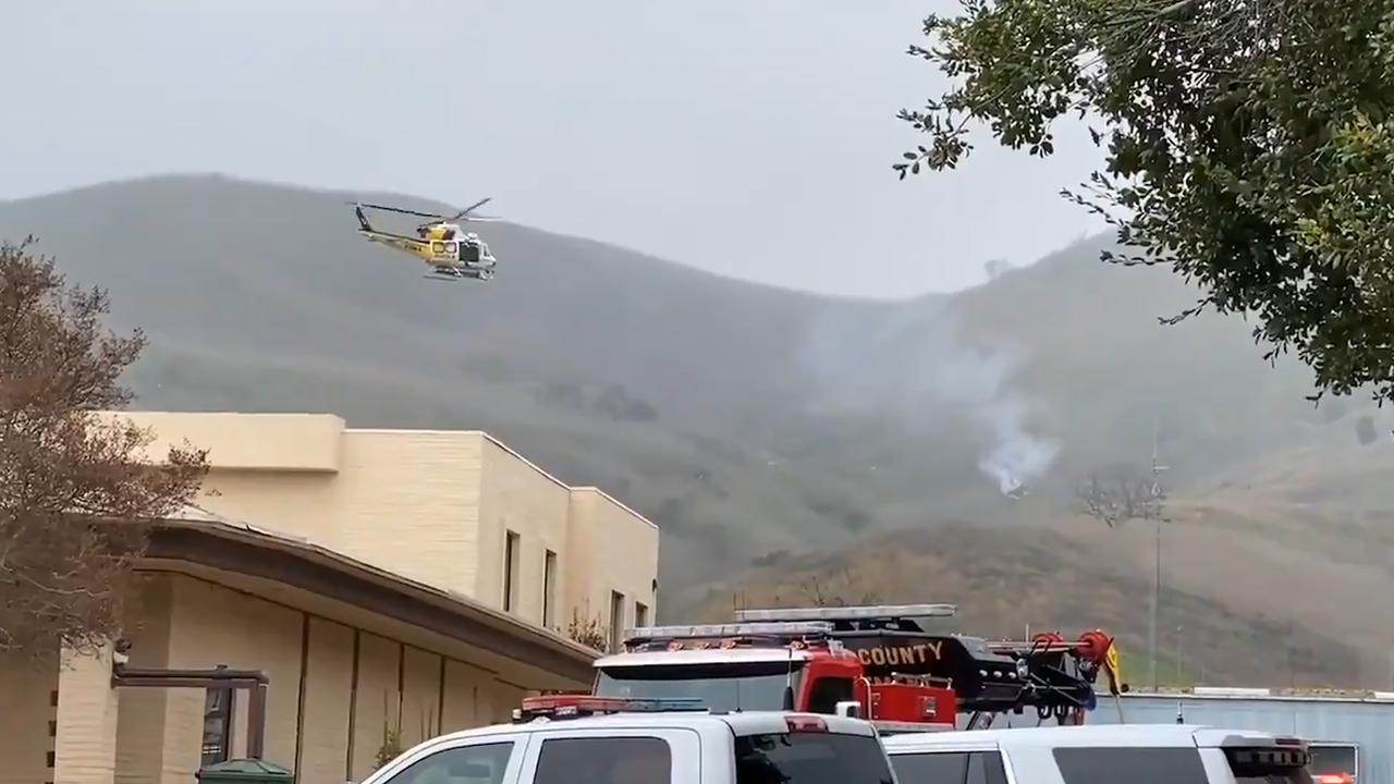 Rook stijgt op uit neergestorte helikopter Kobe Bryant