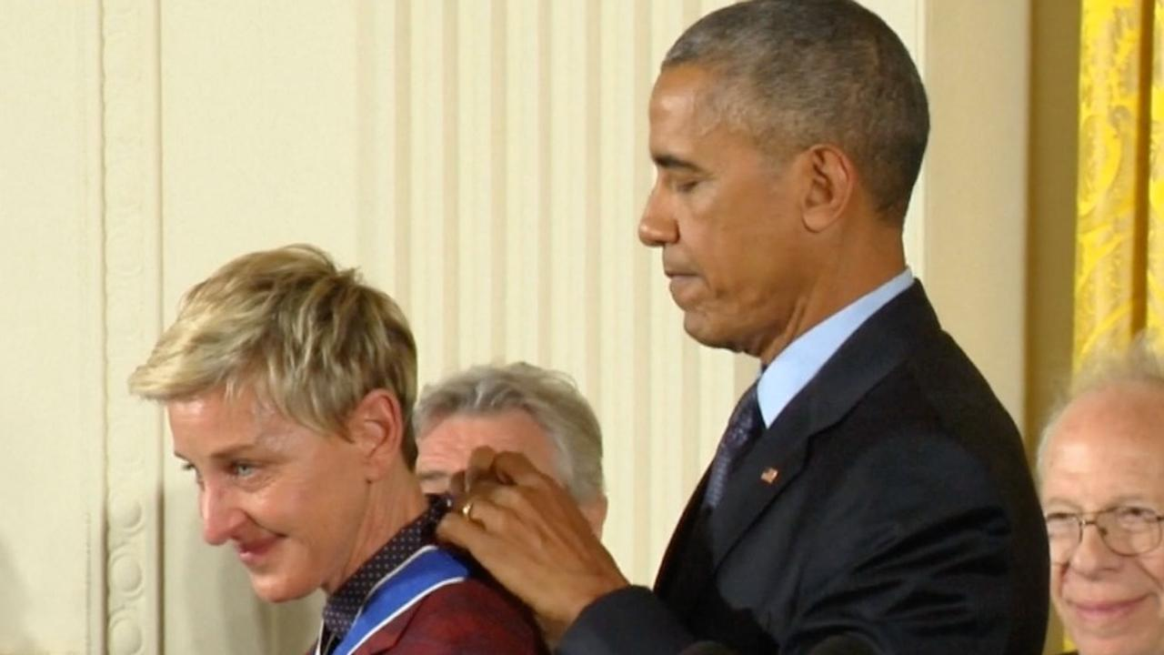 Ellen DeGeneres ontvangt hoogste Amerikaanse onderscheiding