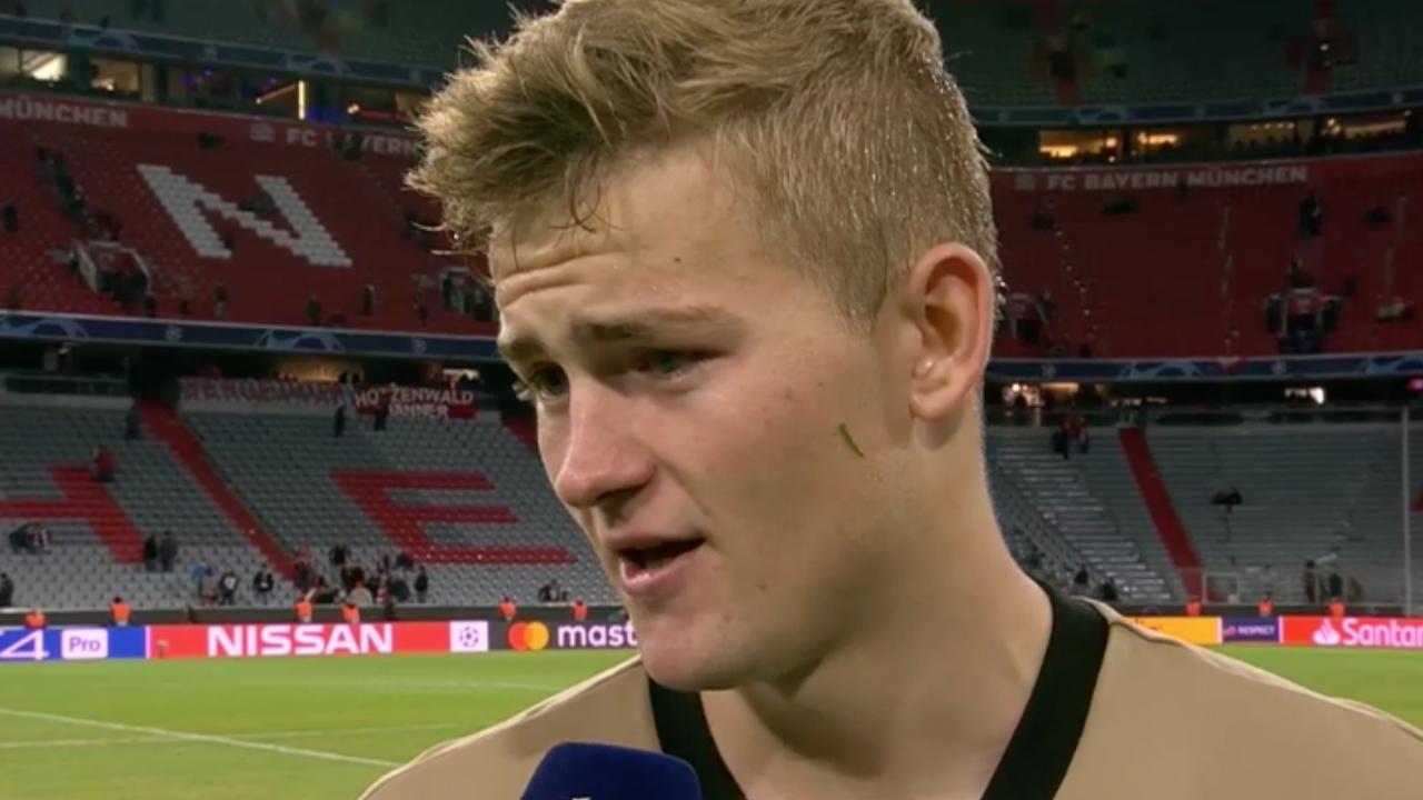 De Ligt: 'We hadden kans om van Bayern te winnen'