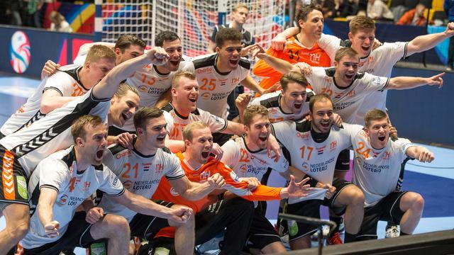 Vorig jaar boekten de handballers hun eerste overwinning ooit op een EK.