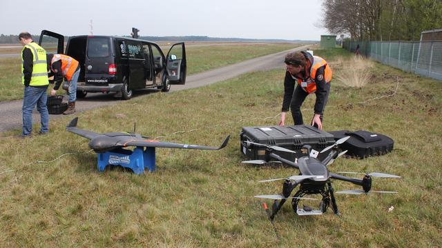 Enorme belangstelling bij testdag voor drones