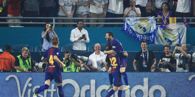 FC Barcelona verslaat Real Madrid bij oefenduel in Miami