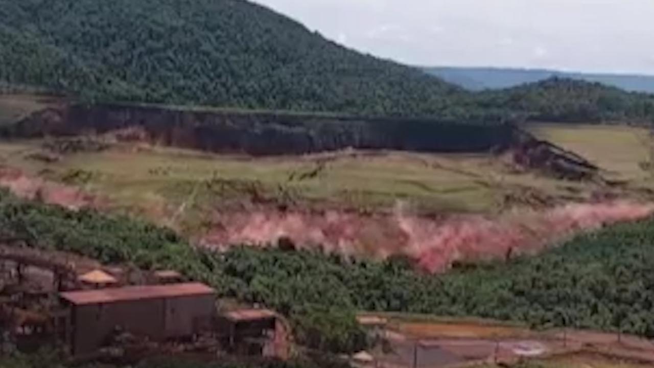 Bewakingsbeelden tonen moment van doorbraak Braziliaanse dam