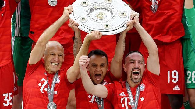 Scorende Robben heeft 'onbeschrijflijk gevoel' na achtste titel met Bayern
