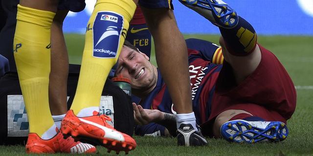 FC Barcelona twee maanden zonder geblesseerde Messi